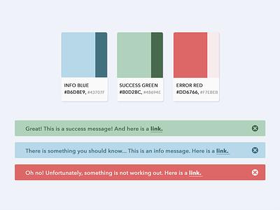Notifications Palette palette error notifications colors info ui web flat