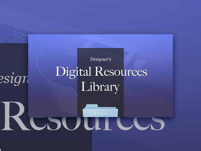 Digital Resources Library ✨ article designer starting kit digital design ui ux library resources freebies productivity