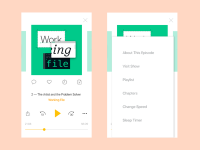 Improving Podcast Player Screen redesign ux ui ios audio music player podcast app podcast spreaker