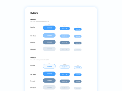 Sky Blue Buttons UI blue interface ui kits ui style guide button ui blue user interface ui kit style guide ui buttons
