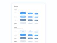 Sky Blue Buttons UI blue interface ui kits ui style guide button ui blue user interface ui kit style guide ui buttons