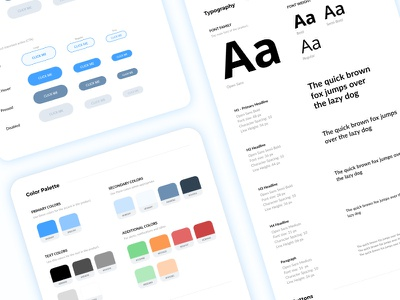 Style Guide In-Progress style guides style kit styleguide user interface interface color palette colors buttons ui guide ui kit ui style guide