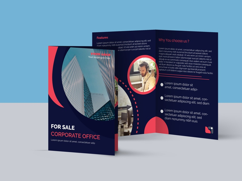 Bi Fold Brochure Template business office design corporate brochure design brochure bi fold brochure bi fold design company modern creative print design adobe photoshop
