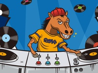 DJ Horse illustration