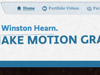 New Portfolio portfolio webdesign menu personal