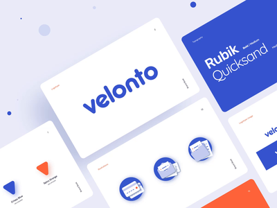 Velonto Food Delivery - Branding tracking service restaurant order startup graphics brandbook logo animation identity branding icons ui figma guidelines platform food delivery product design illustration arounda