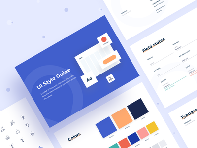 Bold - UI Style Guide button typography designsystem palette color visual language ui kit ui elements components ui library guidelines guide styleguide bold web design arounda