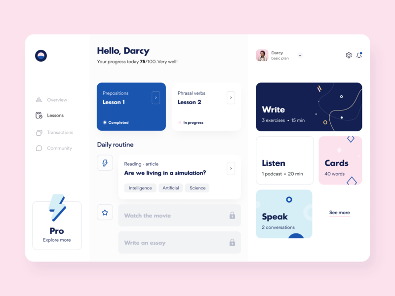 Language Courses - Web app education classes event illustration notification interface schedule courses ui ux figma sketch platform technology dashboard management saas product design web design arounda