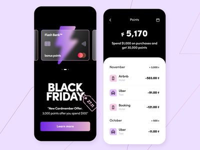 Flash online banking - Mobile app glass startup card points coupon concept saas application banking interface cashback discount ui ux figma platform fintech product design mobile arounda