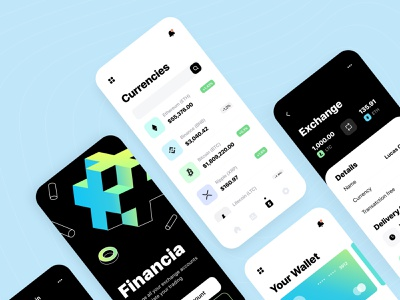 Crypto Service - Mobile app ux startup graph product design statistics transaction notification fintech crypto app money illustration figma interface bank save money app finance mobile app concept arounda