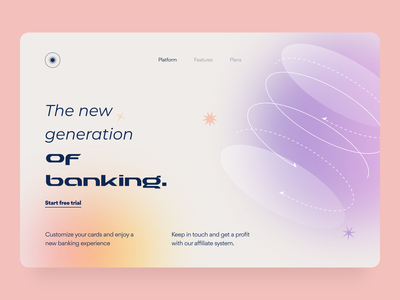 Banking - Landing page statistic saas payment concept mobile banking finance invite transactions onboarding credit card customize referral fintech ui ux illustration web design arounda