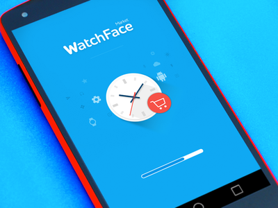 WatchFace - Loading screen watch face smart watch google ui clean sketch material design android welcome walkthrough loading