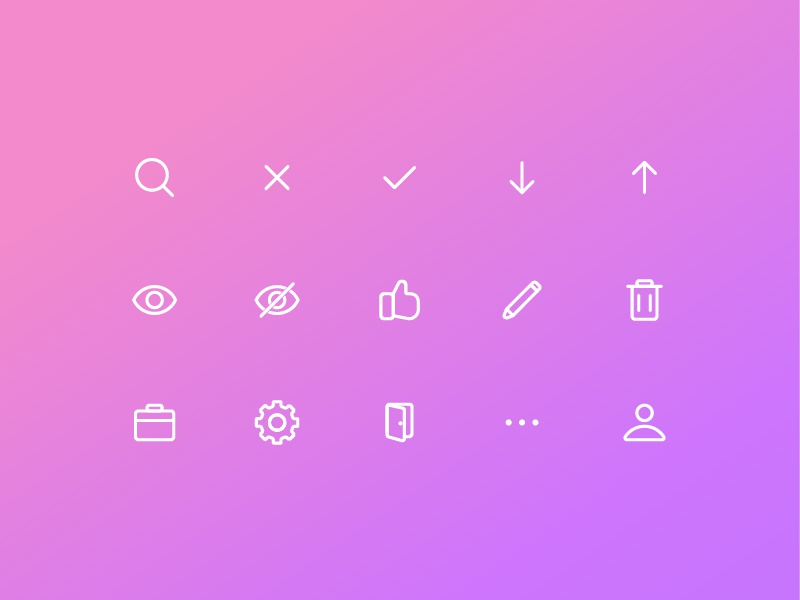 Icons Set icon set trading icons interface app web design ux ui
