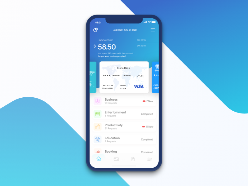 Paythey - iOS App interface iphone x money finance design ios app ux ui