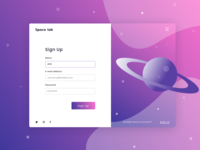 Space lab - Sign Up