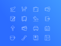 Airport set of icons