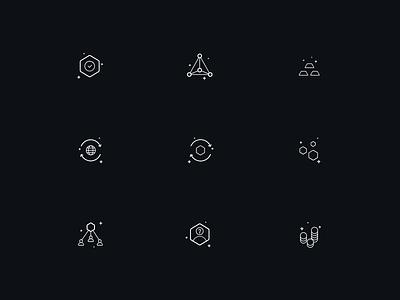 Gigzi - Icons Set arounda finance bitcoin money currency identity gigzi set crypto branding brand style design icon