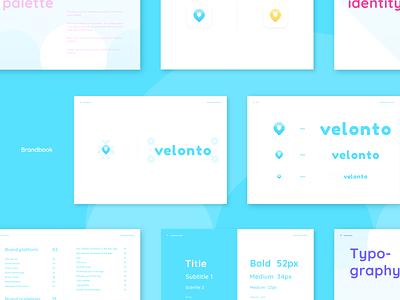 Velonto - Brandbook arounda typography brandbook branding logo illustration design ui ux clean