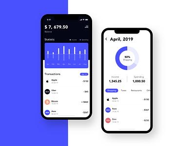 Banking - Mobile app concept arounda mobile sketch ux ui interface app design ios banking concept