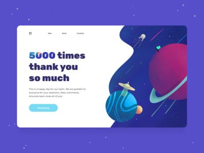 5k followers - Landing page concept