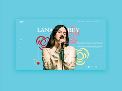 Lana Del Rey UI Design (Website) interactivemultimedia webdesigner uidesigner design webdesign uidesign web ui