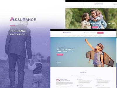 Assurance   Insurance PSD Template website concept website branding web flat ux vector design ui