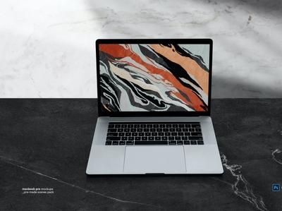 Macbook Laptop Display Web App Mock Up