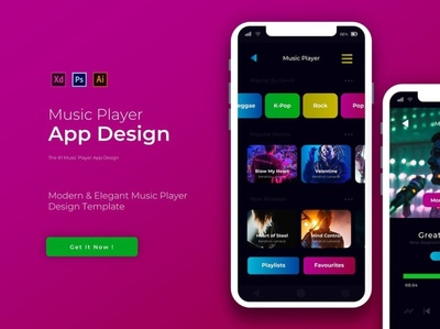 Music Player App Design Template