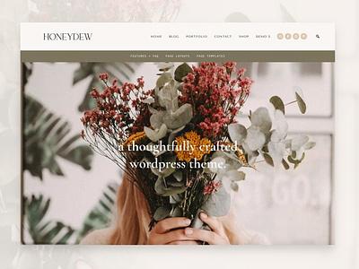 Honeydew- Business + Portfolio Theme webdesign theme landing page website elements app web ui branding design