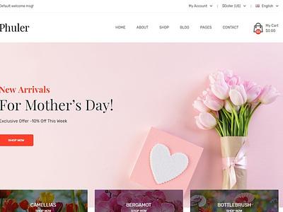 Phuler - Flower Shop Shopify Theme website design wordpress web design theme landing page website web branding design