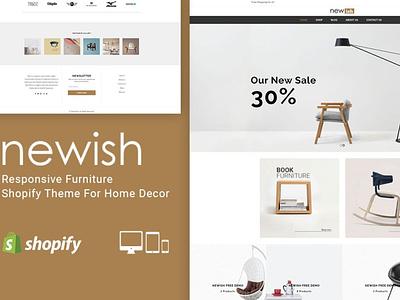 Newish Furniture Shopify Theme ecommerce shopify theme theme web design landing page website web branding design