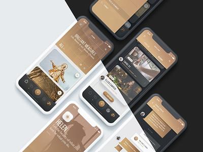 Helen - Mobile Portfolio App UI Kit icon logo ux flat elements app ui web branding design