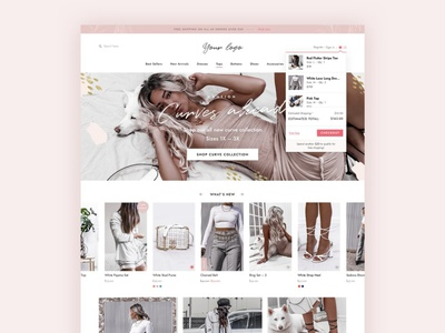 Fashion eCommerce PSD Template web design ux theme landing page app ui website web branding design