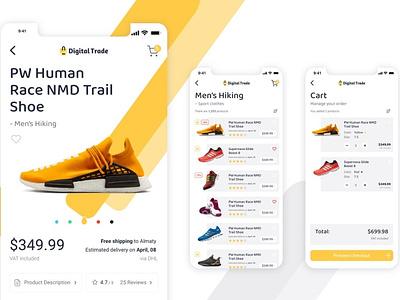 Store Mobile App vector flat ux elements app ui web branding design