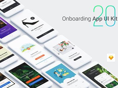 Walkthrough - Onboarding App UI Kit vector ux flat elements app ui web branding design