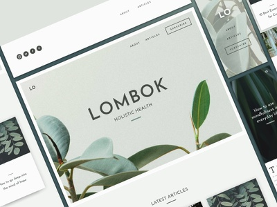 UI Kit - Lombok ux flat landing page elements app ui website web branding design