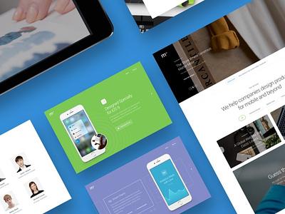 Module 02: Layouts ux flat landing page elements app ui website web branding design