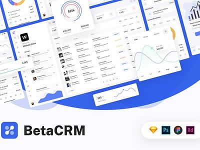 BetaCRM - SaaS Web UI Kit ux flat elements app ui kit design ui kit saas web branding design