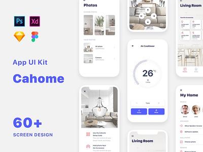 Cahome - Smart Home UI Kit ui kit ux flat elements app ui website web branding design