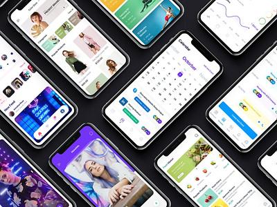 Osmium mobile UI Kit ui kit design ui kit ux flat elements app ui website web branding design