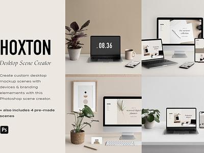 Desktop & Multi Device Scene Creator mockup psd devices scene creator laptop mockup macbook iphone mockup branding design