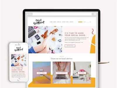 Squarespace Website Template: Social social template squarespace template website web branding design