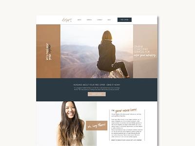 Wix Website Template   Desert template design wix theme template wix website web branding design