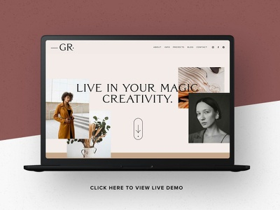 Squarespace 7.1 Template: Gigi Rose theme design theme squarespace website branding design