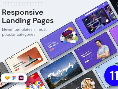 ELEVEN - Responsive Landing Pages responsive website theme design theme landing page website branding design