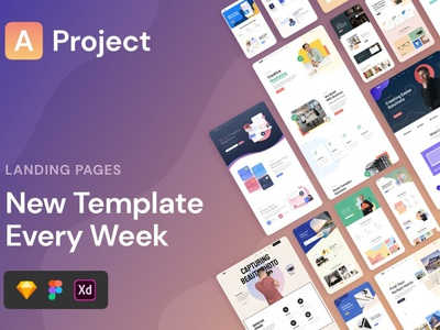 AProject   Responsive Landing Pages html css html theme landing page design landing page website web branding design