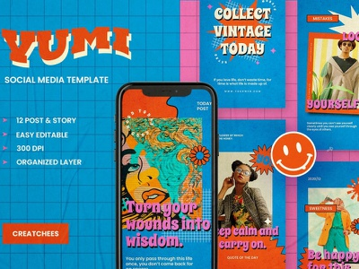 Yumi - Instagram Stories & Post poster instagram banner template poster design instagram template instagram post instagram stories