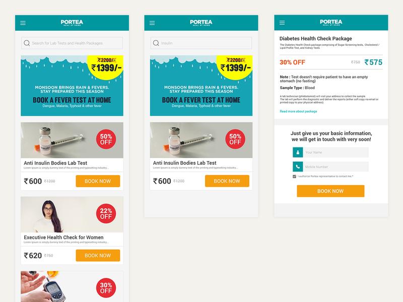 Mobile Landing Page - Diagnostics ui visual design mobile ui landing page design uidesign