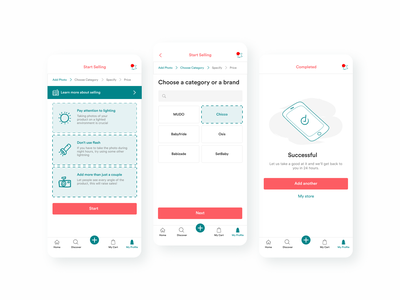 Category Pages Design for Moms & Baby's Products Marketplace marketplace app ecommerce marketplace second hand ui ux design 2020 2020 trends