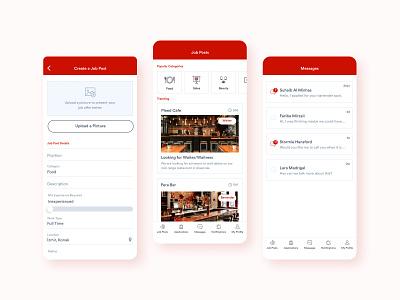 Main Screens for Recruitment App recruitment branding mobile app design ux ui 2020 2020 trends